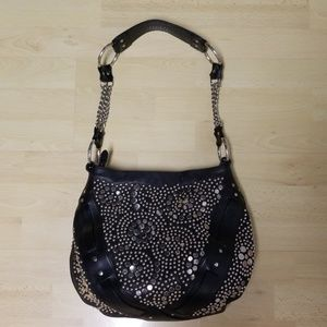 Frye studded embellished leather purse